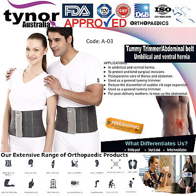 Tynor Tummy Trimmer Ventral Hernia Umbilical Belt Post-Ops Aid Abdominal Belt 8""