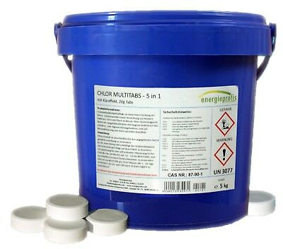 5 kg Multitabs 20g 5 in 1 Chlor Tabletten Desinfektion Pool