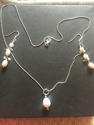 sterling silver and pearl set