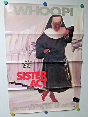 Sister Act Whoopi Goldberg Movie Poster Double Sided Window 40x27