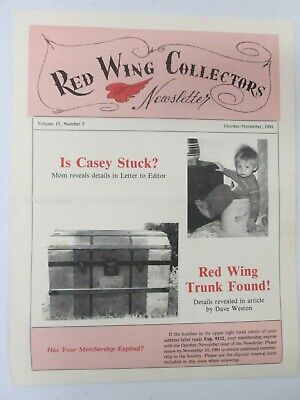 Red Wing Collectors Newsletter October November 1991 Rare Pieces On Display USA