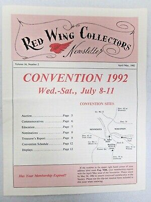 Red Wing Collectors Newsletter April May 1992 Operation Village Green USA