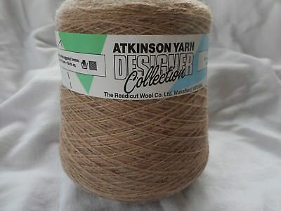 ATKINSON YARN DESIGNER COLLECTION KNITTING CONE IN ARNICA NUTMEG 20% ALPACA 400g