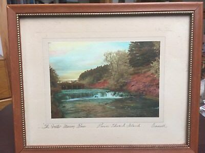 "Antique hand colored photograph Prince Edward Island ""The Falls Murray River"""