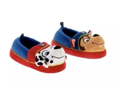 NEW NWT Toddler Boys Size Small 5/6 Paw Patrol Slippers House Shoes