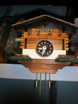 NEW Vintage Small Cuckoo Style Clock WORKING JUST NEEDS TO BE LEVELED SWISS MADE