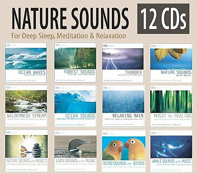 """Sounds of Nature"" 12 CD Box Set -Nature Sounds for Relaxation & Deep Sleep NEW!"