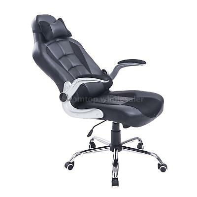 Adjustable Racing Office Chair PU Leather Recliner Gaming Computer F7O0