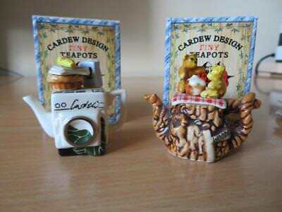 PAUL CARDEW Selection TINY TEAPOTS EXC CONDITION, BOXED Washing Machine, Picnic
