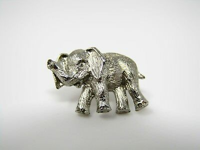 Vintage Collectible Pin: ELEPHANT Silver Tone