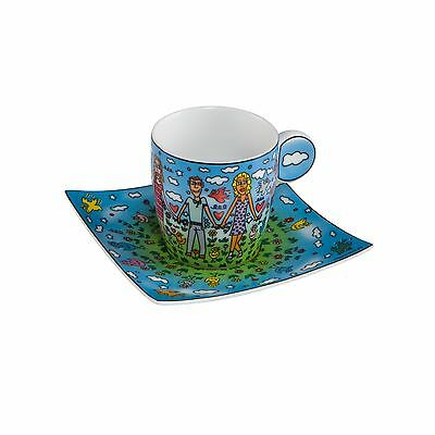 "RIZZI: Espressotasse ""FUN IN THE SUN FRIENDS"", Tasse, Goebel Porzellan, neu 2016"