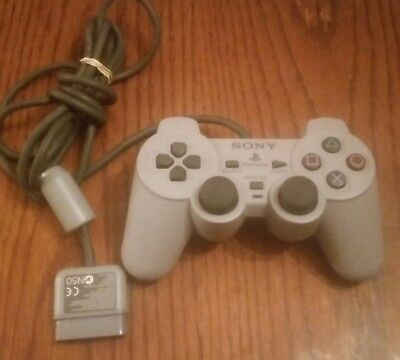 Official Sony Playstation 1 PS1 Dual Shock Controller Grey SCPH-1200