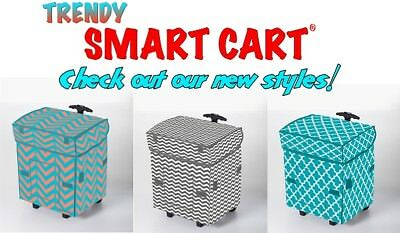Smart Cart Rolling Multipurpose Collapsible Basket Cart **PICK YOUR CART COLOR**