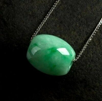 Natural Hand-carved Chinese Jade Necklace Pendant