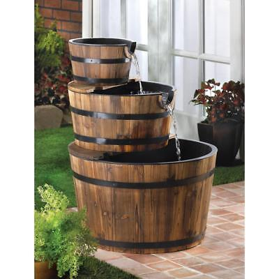 Apple Barrel Outdoor Water Fountain,  Garden Decor For Your Backyard or Patio
