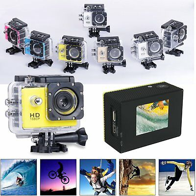 HD 1080P Waterpoof Action Sports Camera Helmet DV Dash Cam Camcorder Recorder