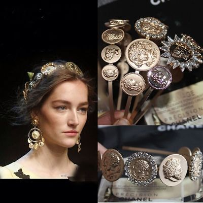 New Runway Hot Occident Italy 2018 Fashion Baroque Diamond Headpieces Hairpin