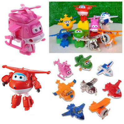 8X SUPER WINGS set JETT transformer Robot Toy Airplane Plane Superwings Kid Gift