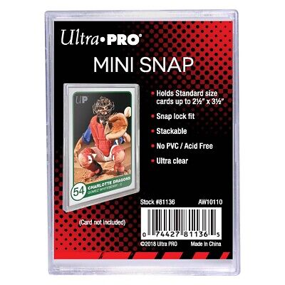 ULTRA PRO Mini Snap - Specialty Card Holder Protector Two-Piece Clear Stackable