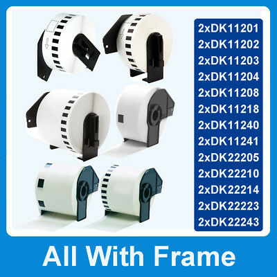2x Compatible Brother Thermal Labels DK-11201 11202 11204 11208 09 22223 22205