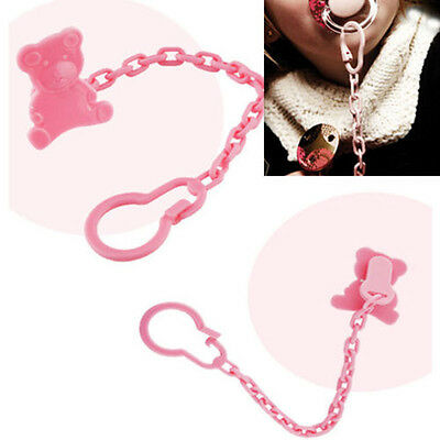 Cute PP Baby Kids Infant Dummy Pacifier Soother Chain Clip Holder Toddler Toy