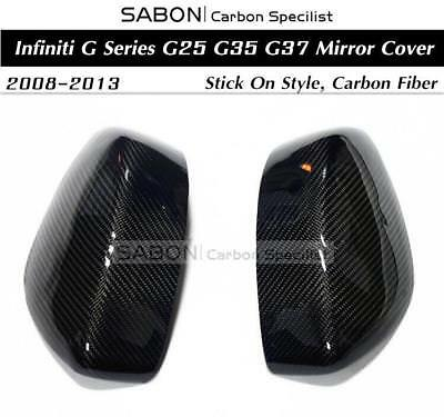 For 2008-13 Infiniti G Series G25 G35 G37 Mirror Covers/Carbon fiber/Stick On