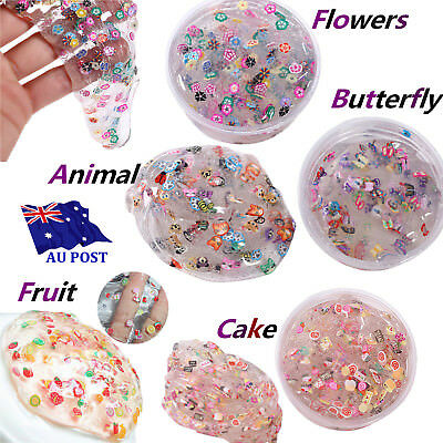Clear Creative Slime Cute Fruit Salad Fimo Crystal Putty Mud Kids Gag Gift Toy M
