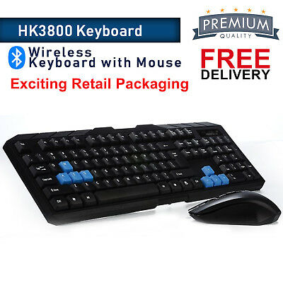 2.4GHz Wireless Gaming Gamer Keyboard And Optical Mouse Set Combo For PC Laptop