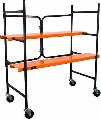 Rolling Scaffolding Collapsible Adjustable Steel Platforms 500 lb Capacity Home