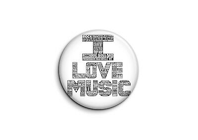 Musique - i love music-1 - Badge 25mm Button Pin