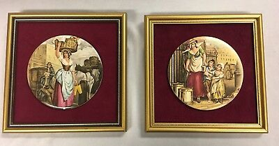 Pair Of Vintage Cameo Plaques Made In Stoke On Trent England