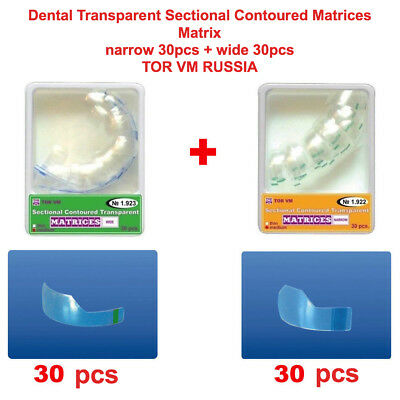 Dental Transparent Sectional Contoured Matrices Matrix 30 pcs + 30 pcs TOR VM