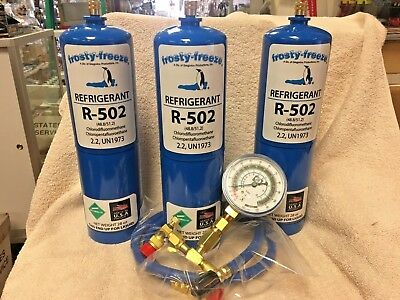 R404A, RECHARGE KIT, (2) cans 28 oz ea , w/Check & Charge-It Gauge