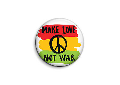 Peace and Love - make love not war-1 - Badge 25mm Button Pin