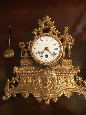 antique french clock ormolu