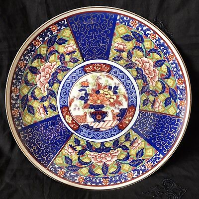 GOOD ANTIQUE JAPANESE IMARI PORCELAIN HAND PAINTED PLATE. DIA-26.2cm VGC