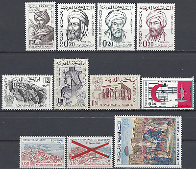 Morocco Morocco N°455 456/458 461/463 464/466 467 471 Neuf Luxe Mnh