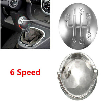 6 Speed Gear Shift Knob Cap Cover Insert For Renault Clio Megane Scenic Twingo