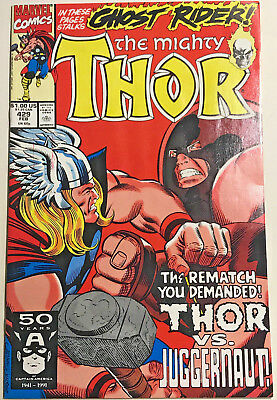 Thor#429 Vf/nm 1991 Vs The Juggernaut Marvel Comics