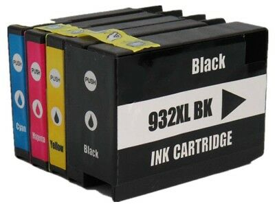 4 x Compatible High Cap 932XL 933XL CMY Set for use with HP 7510 Series Non-OEM