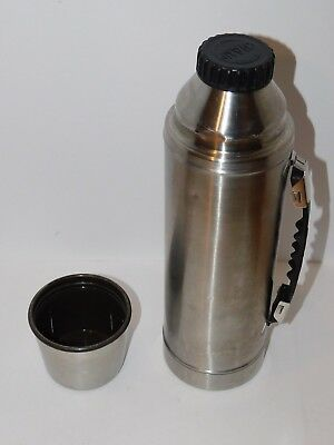 Vintage Hot Cold Champ Stainless Steel Thermos with Handle