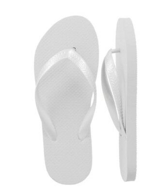 Women White Flip Flops - Wholesale lot of 48 pairs - Assorted Sizes - Wedding