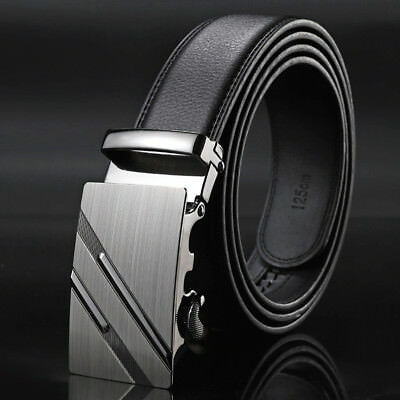 Mens Belts Luxury Real Leather Belts For Men Metal  Buckle Man Jeans Pants Belts