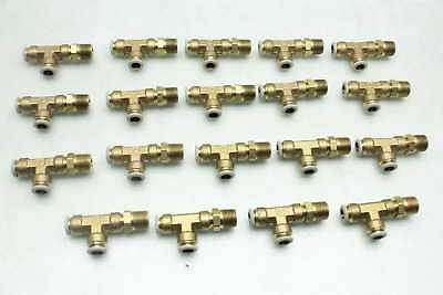19 New Parker X171PL-6-6 Push-to-Connect Brass Tee Pipe Fittings / Prestolock