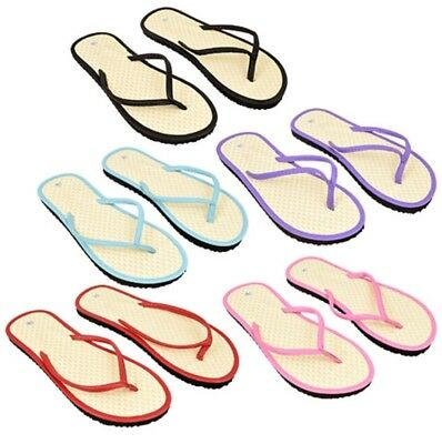 Women Bamboo Flip Flops - Chevron Woven - Assorted - Lot of 48 - Bulk - Wedding