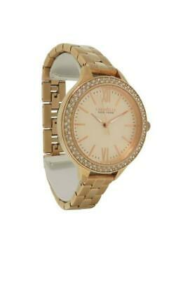 Caravelle New York 44L125 Women's Round Rose Gold Tone Roman Numeral Watch