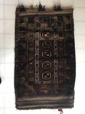 Old Hand Made Wool Camel Saddle Bag Rug Pillow Cover. Cushion Turkish Antique #2