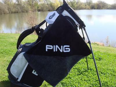 Ping Golf - Clip Towel (Black/Grey) + FREE Ping Tour Tees