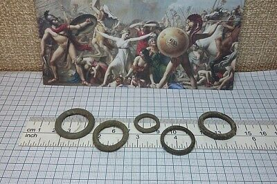 5 pcs.Perfect Ancient Celtic Bronze Ring Proto Money 600-400BC Old Pre-Coin #221