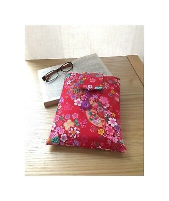 Book Sleeve, Book Cover, Book Bag, Japanese Themed Gift, Paperback Book Sleeve